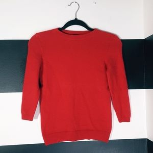 TALBOTS 100% Cashmere Sweater Red Size P
